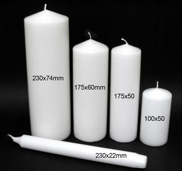 Candles Online Candle Sizes