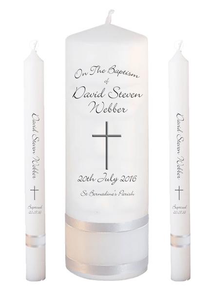 Baptism Candle Lighting Set Ceremony Plus Font 4 - cross 2