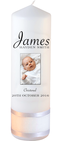 Christening Candle Name Font 5 Photo