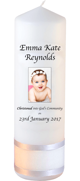 Christening Candle Welcoming Font 2 Photo