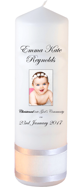 Christening Candle Welcoming Font 3 Photo