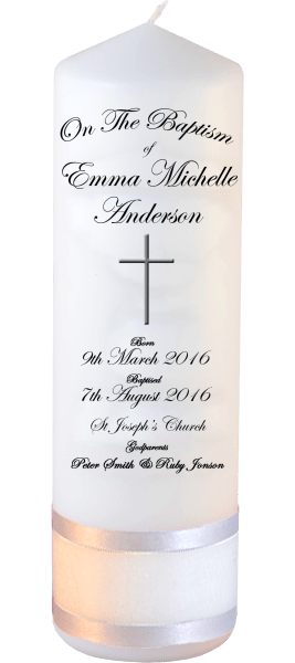 Baptism Candle Welcoming Font 3 cross 2