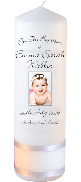 Baptism Candle Ceremony plus Font 4 Baby Picture