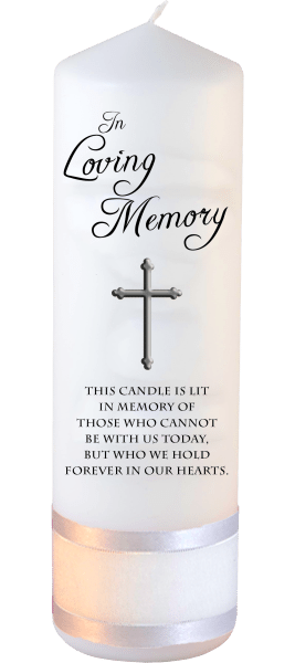 Memorial Candle Loved Ones Font 1 cross
