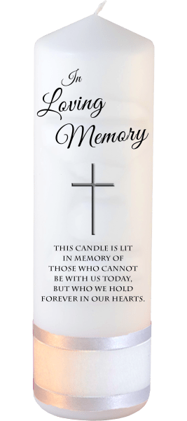 Memorial Candles Loved Ones Font 2 modern cross