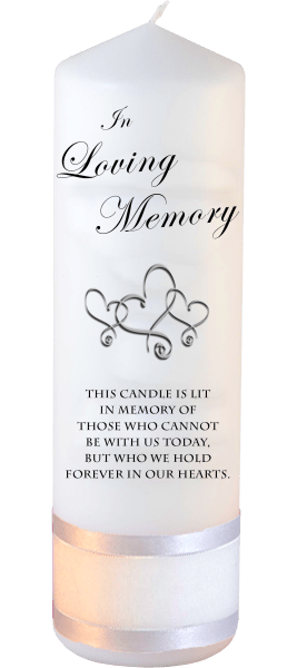 Memorial Candles Loved Ones Font 3 hearts