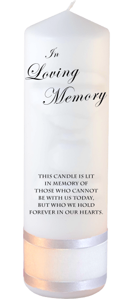 Memorial Candle Loved Ones font 3 no motif