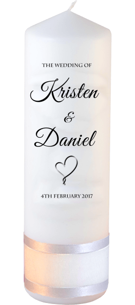 Wedding Candle Formal Font 5 heart