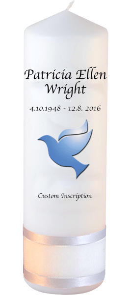 Personalised Memorial Candles dove font 2