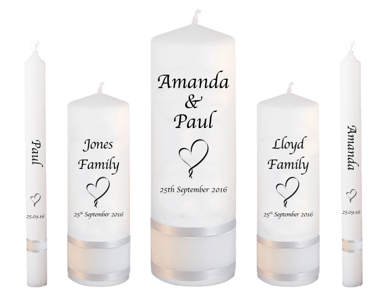 Wedding Candles Deluxe font 1 heart