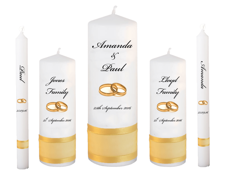 Wedding Candles Deluxe font 5 gold rings