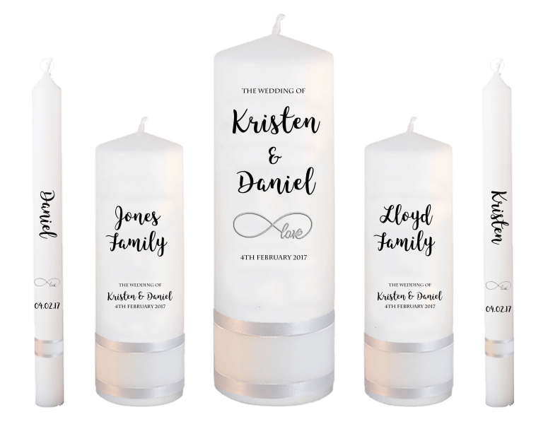 Wedding Candle Set Deluxe Formal font 3 - love