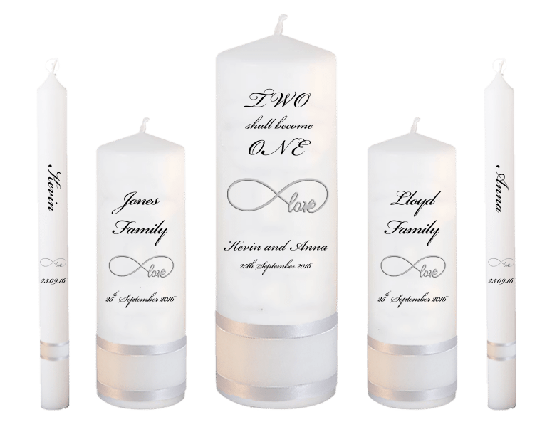 Wedding Candle Set Deluxe Two Shall font 5 - love