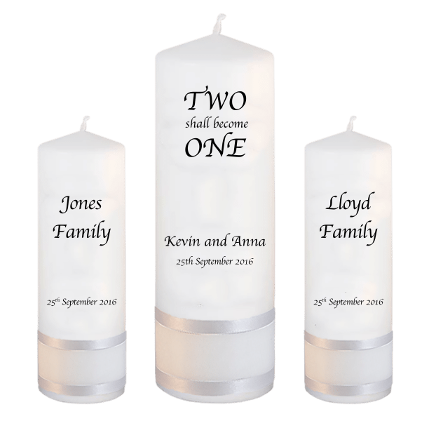 Wedding Candle Set Two Shall font 1 no motif
