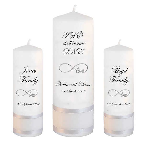 Wedding Candle Unity Set Two Shall Font 2 love