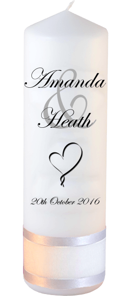 Wedding Candles Modern Design font 2 heart