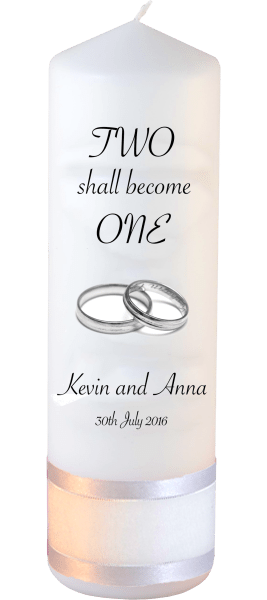 Wedding Candles Two Shall Become One Detail font 3 heartWedding Candles Inscription Font 4 silver rings