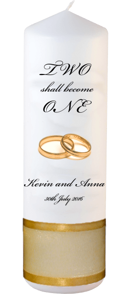 Wedding Candles Two Shall Become One Detail font 3 heartWedding Candles Inscription Font 5 gold rings