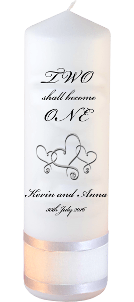 Wedding Candles Two Shall Become One Detail font 3 heartWedding Candles Inscription Font 5 hearts