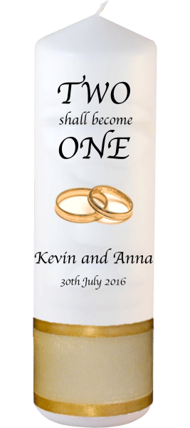 Wedding Candles Inscription Font 1 gold rings