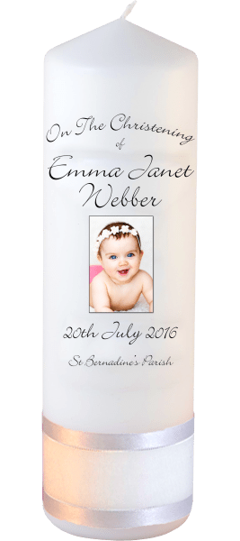 Christening Candles Ceremony Plus Detail font 4 baby picture