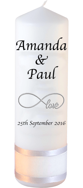 Wedding Candles Classic Font 1 Red love