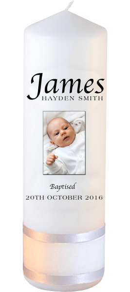 Baptism Candle Name Font 2 Photo