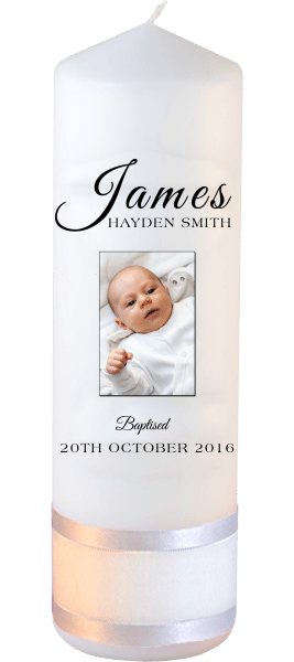 Baptism Candle Name Font 4 Photo