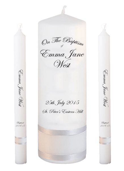 Baptism Candle Lighting Set Ceremony Plus Font 3 - no motif
