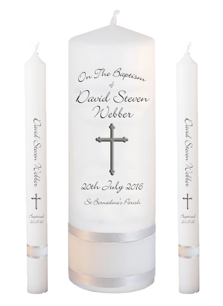 Baptism Candle Lighting Set Ceremony Plus Font 4 - cross
