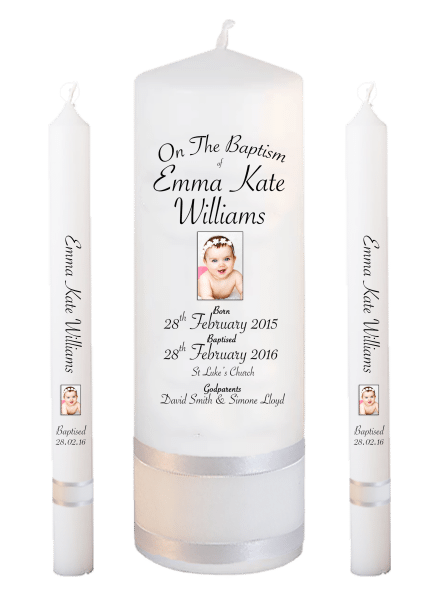 Baptism Candle Lighting Set Deluxe Font 5 - photo