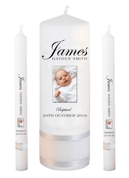 Baptism Candle Lighting Set Name Font 1 - photo