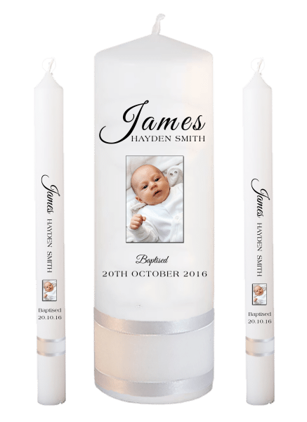 Baptism Candle Lighting Set Name Font 4 - photo