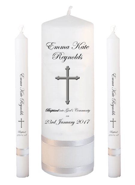 Baptism Candle Lighting Set Welcoming Font 3 - cross