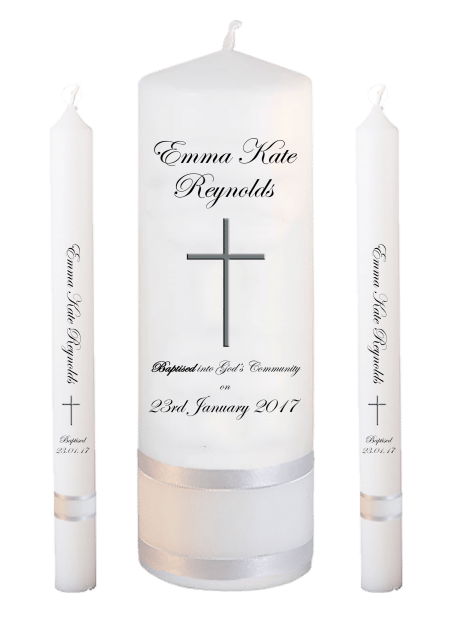 Baptism Candle Lighting Set Welcoming Font 3 - cross 2