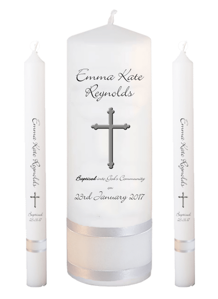 Baptism Candle Lighting Set Welcoming Font 4 - cross