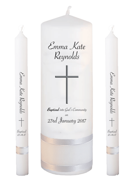 Baptism Candle Lighting Set Welcoming Font 5 - cross 2