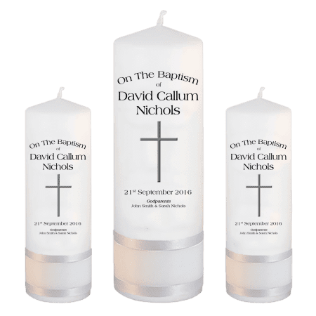 Baptism Candle Set Font 1 - cross 2