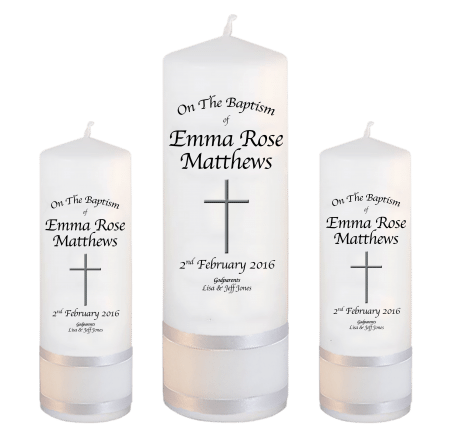 Baptism Candle Set Font 2 - cross 2
