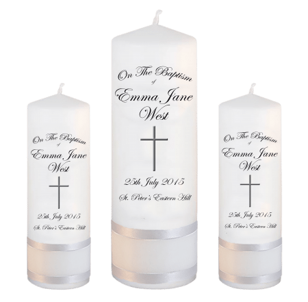 Baptism Candle Set Font 3 - cross 2