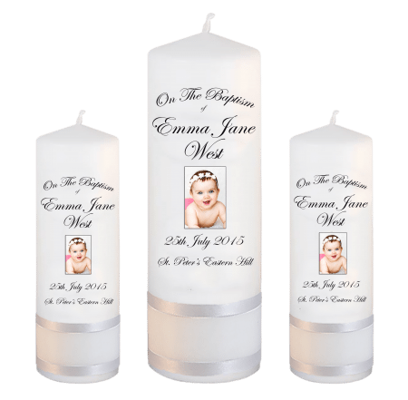 Baptism Candle Set Font 3 - photo