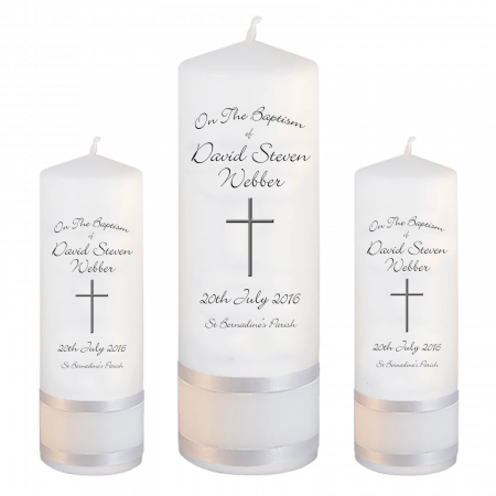 Baptism Candle Set Font 4 - cross 2