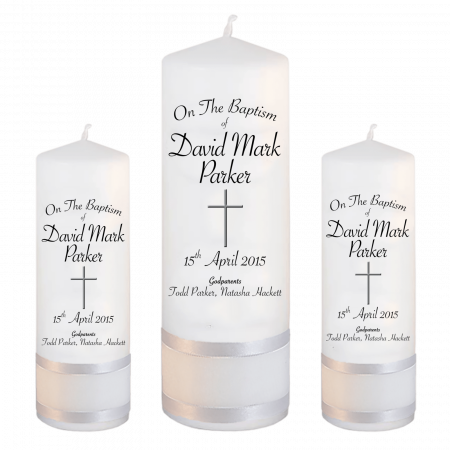 Baptism Candle Set Font 5 - cross 2