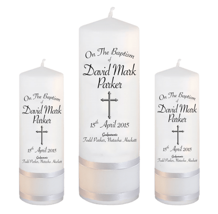 Baptism Candle Set Font 5 - cross