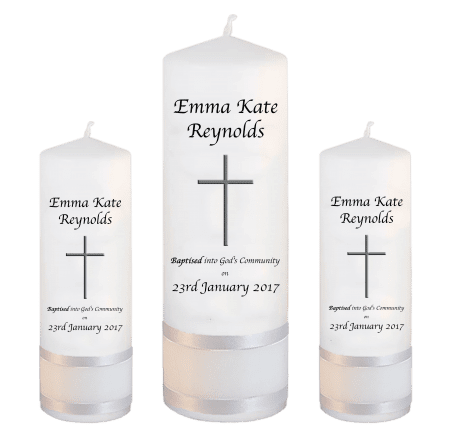 Baptism Candle Set Welcoming Font 2 - cross 2