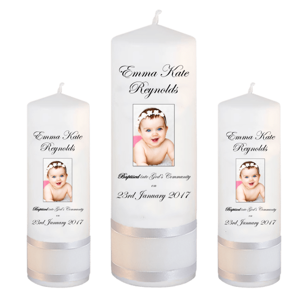 Baptism Candle Set Welcoming Font 3 - photo