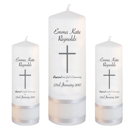 Baptism Candle Set Welcoming Font 5 - cross 2