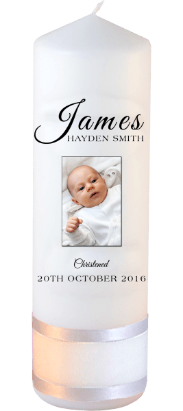 Christening Candle Name Font 4 Photo