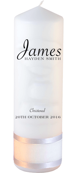 Christening Candle Name font 5 no motif