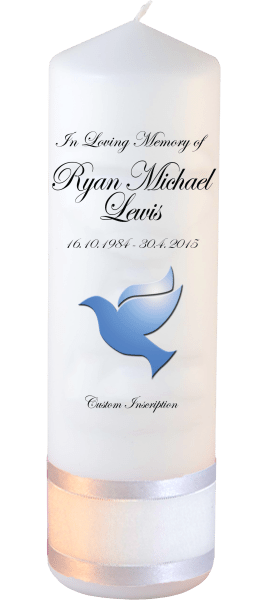 Custom Memorial Candles dove font 3